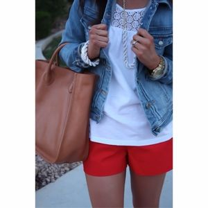 """J. Crew 3"""" Chino Short in Bright Red"""